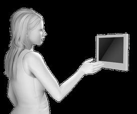 Dal tatto al semplice gesto, il tablet agli ultrasuoni