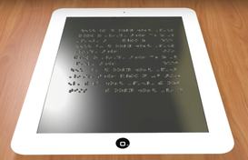 Un tablet Braille per dati complessi
