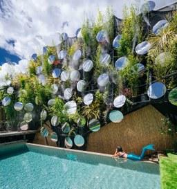 Specchi, verde, piante per una piscina da sogno!