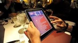 Al ristorante con il tablet