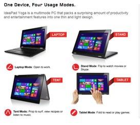 Nuovo tablet Yoga in arrivo